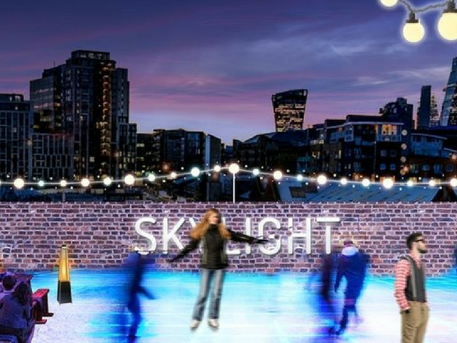 Skylight Rooftop Ice Skating