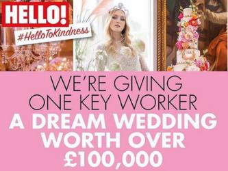 win dream wedding as a key worker through Hello Magazine